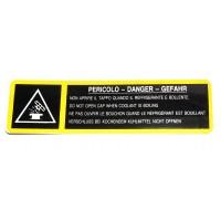 Aviso Autocolante para Radiador