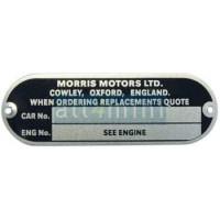 Chapa de Chassis Morris