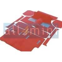 Carpete para o Chão do Carro Pre 73 - Vermelho
