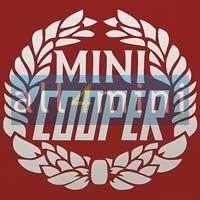 Emblema Autocolante Mini Cooper - Branco