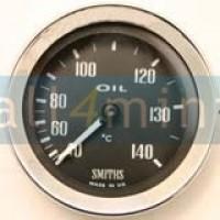 Manómetro da temperatura do Oleo . Preto