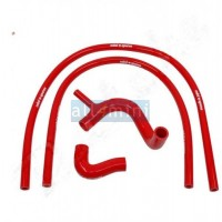 Kit Tubos Radiador Silicone - Vermelhos